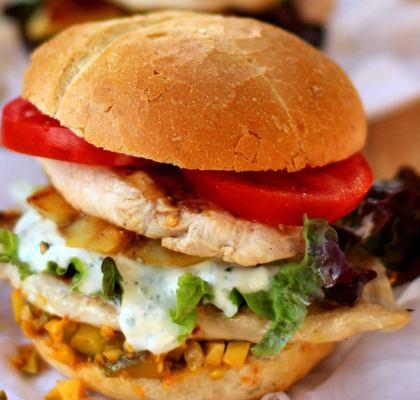 Cheese Chicken Burger Recipe