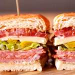 Italian Chicken Salami Club Sandwich