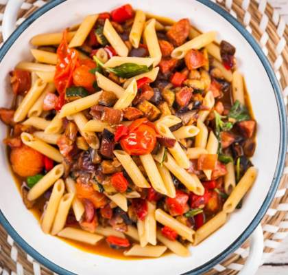 Penne with Roasted Cherry Tomato Sauce Recipe
