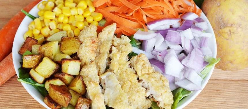 Southern Style Fried Chicken Salad Recipe