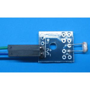 Sensore Fotoresistenza LDR fotosensore con piccolo PCB e cavi dupont 20cm