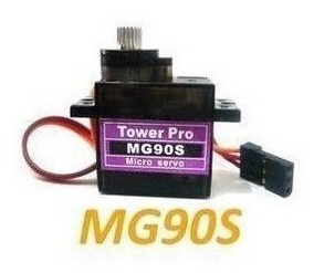 MG90S (9g size), metal gear 14g tilt to the steering gear, SG90 upgrade version