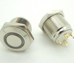 Non-self-locking Pulsante 16mm 12V Impermeabile