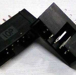 2 Pezzi DC3-10P 2.0MM Pitch Box Header Block copper needles ISP download Interfaccia (JTAG socket)