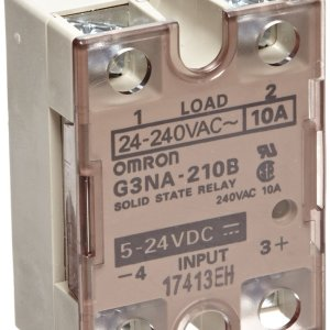 Omron G3NA-210B-DC5-24 stato solido Relè, Zero Cross Function, Yellow Indicator, Phototriac Coupler Isolation, 10 A Rated