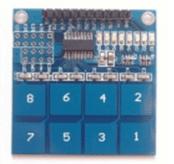 TTP226 8-way touch Modulo Capacitivo touch Pulsante Digitale touch Sensore Modulo