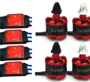 LHI 4x 2212 920KV Brushless Motor (CW / CCW) + 4x SIMONK 30A ESC For DJI Phantom