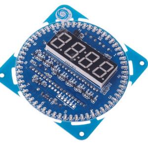 DIY DS1302 Rotation LED Electronic Clock Kit 51 SCM Learning Board