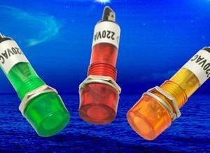 1 Pezzo Red Power piccolo lights / work lights XD10-3 DC12V DC24V AC220V 10mm