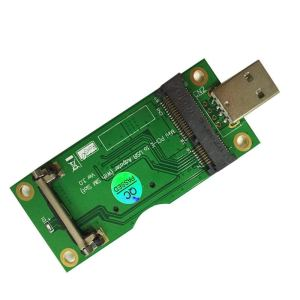 Mini PCIe Pulsante USB 3G / 4G evaluation board (SIM card Connettore) PCI-E to USB Adattatore plate