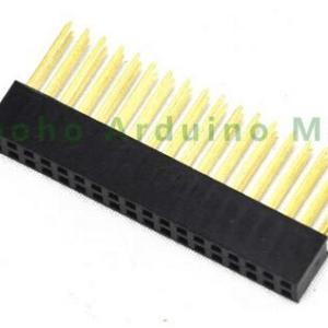 2*18 pin header 2.54mm tower long legs Femmina per Arduino shield