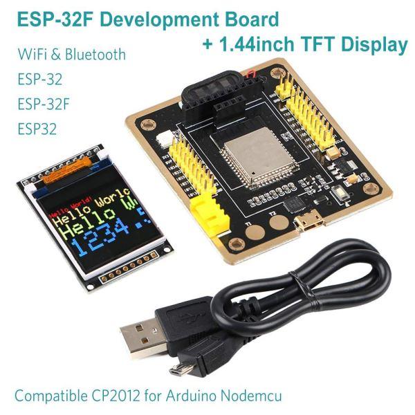 """ESP-32F Board di Sviluppo ESP32 Kit Bluetooth WiFi IoT Modulo di controllo + TFT Lcd 1.44"""""""