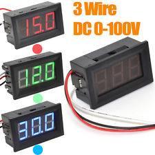Voltmetro da 0,56 '' verde a 3 fili DC0-100V LED Display digitale Pannello di tensione