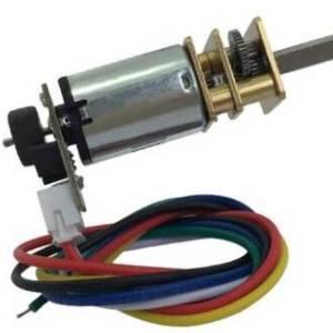 Motoriduttore micro-metallo con encoder - 6V 150 giri / min 100: 1