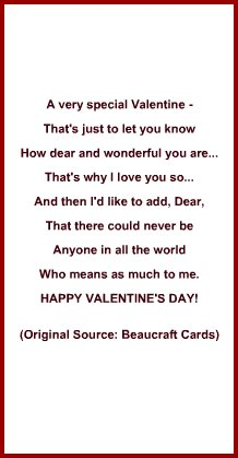 Valentine Card Verses For Him  Valentine Gift