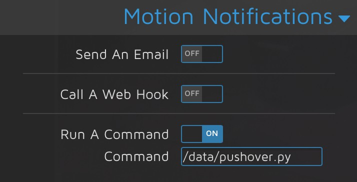 Motion Notifications