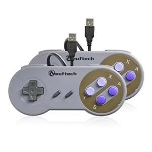 raspberryitalia neuftech 2x gamepad usb controller joypad per console super nintendo snes