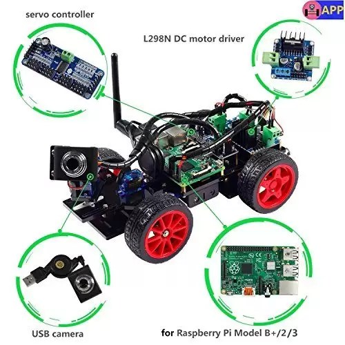 raspberryitalia smart video car kit for raspberry pi with android app compatible with rpi 3 1