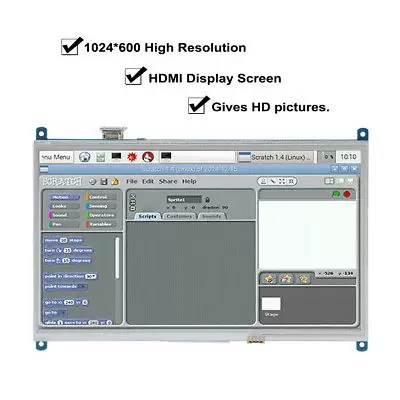"10.1"" LCD Display HDMI Monitor Touch Screen con Pennino Kit Per Raspberry Pi"