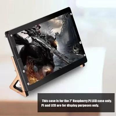 """7"""" LCD Display Touch Screen Case Custodia Cover Nero + Supporto Per Raspberry Pi"""