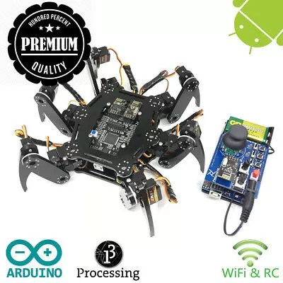 Freenove Hexapod Robot Kit with Remote Control | Arduino Based Project |...