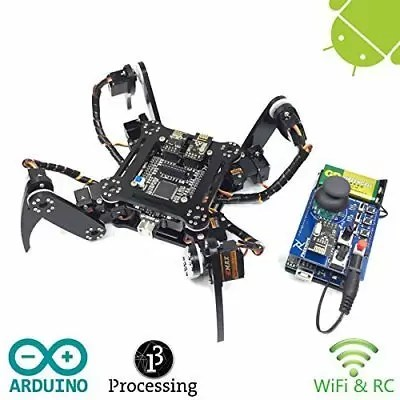 Freenove Quadruped Robot Kit with Remote Control | Arduino Based Project | Ra...