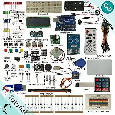 Freenove RFID Starter Kit V2.0 for Arduino | Beginner Learning | Uno R3 (p6Q)