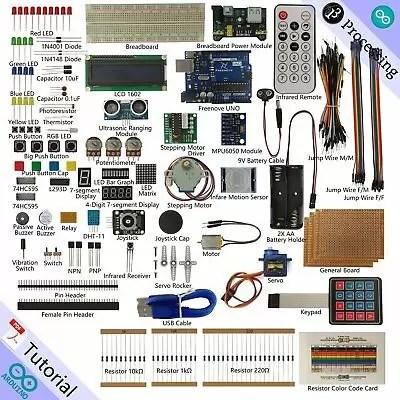 Freenove Ultimate Starter Kit for Arduino | Beginner Learning | Uno R3 (F3d)
