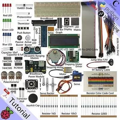 Freenove Ultrasonic Starter Kit for Raspberry Pi, Model 3B+ 3B 3A+ 2B 1B+ (M7F)