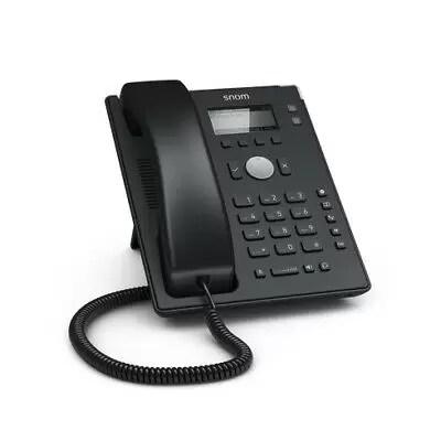 Snom 4361 D120 IP phone Black Wired handset 2 lines Desk Telephone - 132 x 64 -