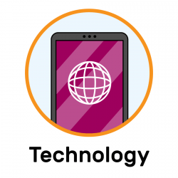 An icon showing a phone screen with an internet browser symbol