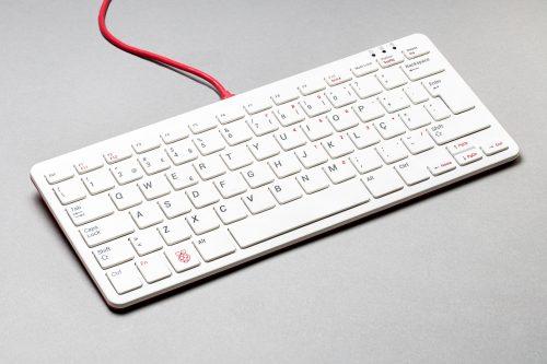 Photo: Raspberry Pi Portugal keyboard in red and white