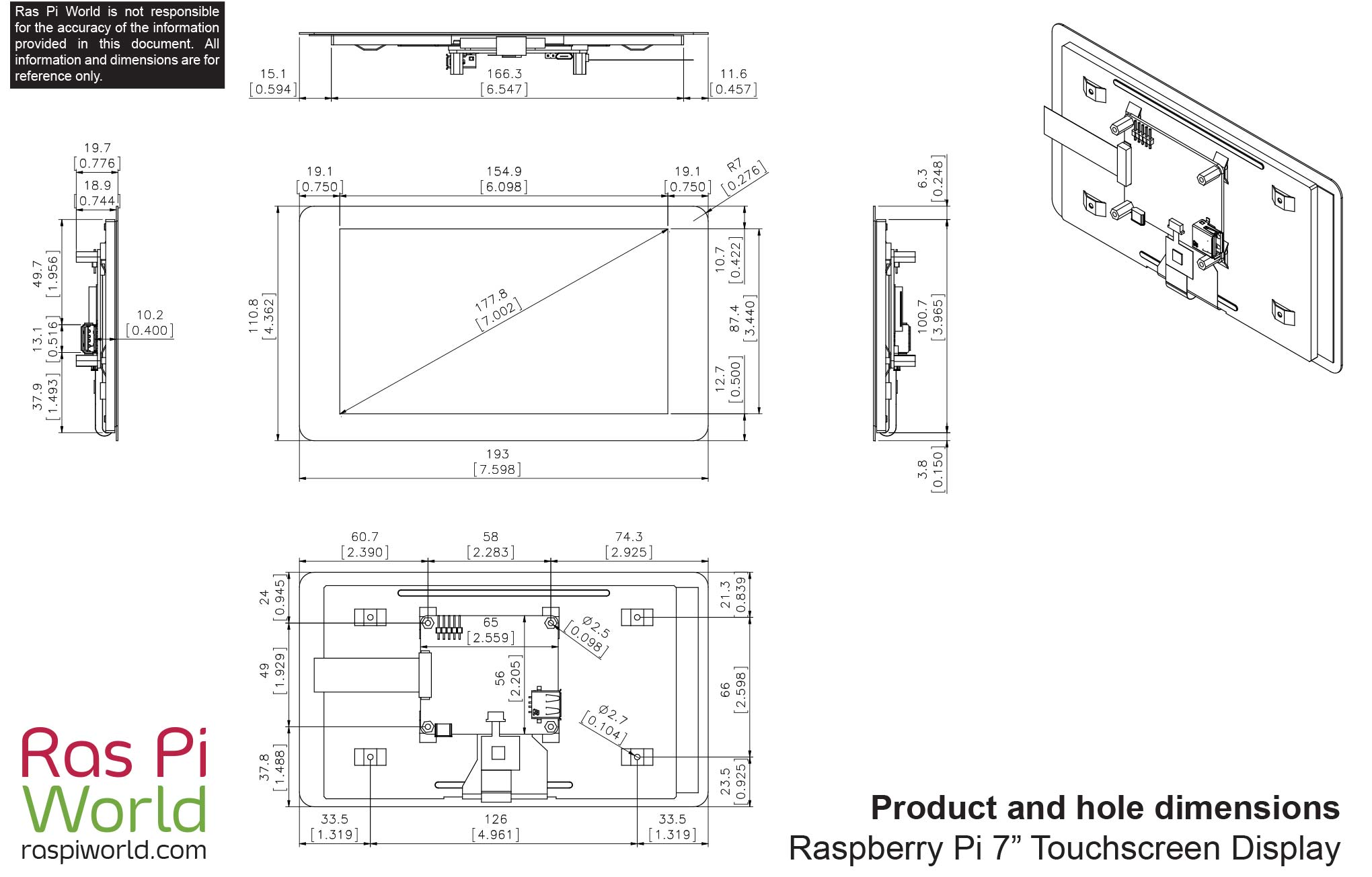 All Raspberry Pi Products Dimension Drawings