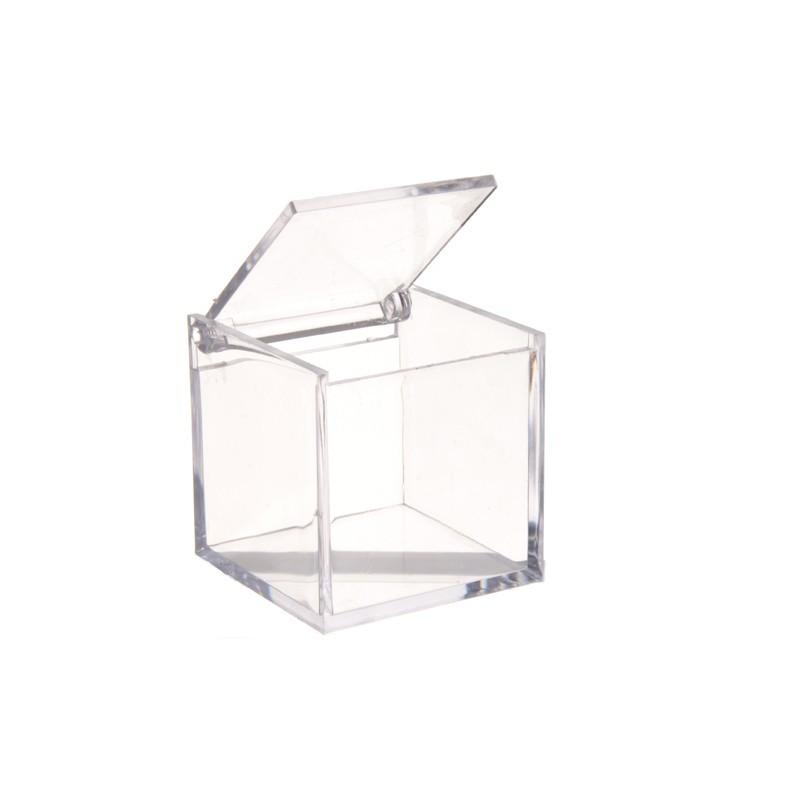 cube transparent plexi contenant pour dragees tout ceremonie