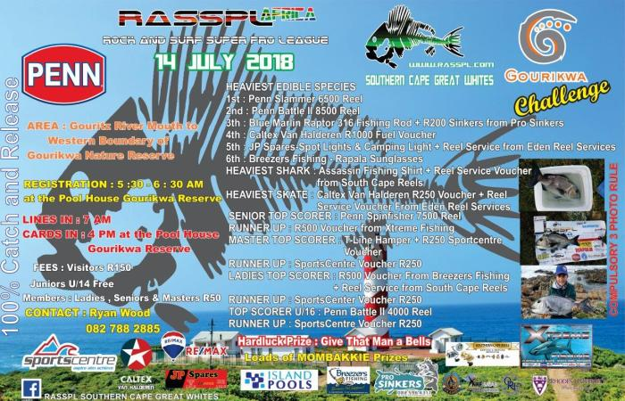 Southern Cape Great Whites Competition Poster