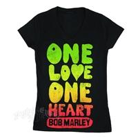 Bob Marley One Love Box Black T-Shirt - Women's