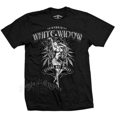 Seven Leaf White Widow Strain Black T-Shirt – Men's