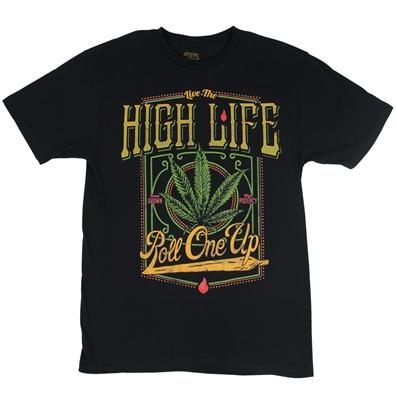 Seven Leaf High Life Black T-Shirt – Men's