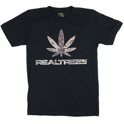Seven Leaf Real Trees Black T-Shirt - Men's