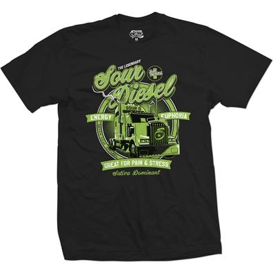 Seven Leaf Sour Diesel Strain Black T-Shirt – Men's