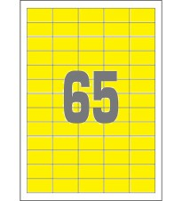 PAPIR ETIKETA 38x21.2 SOREX YELLOW