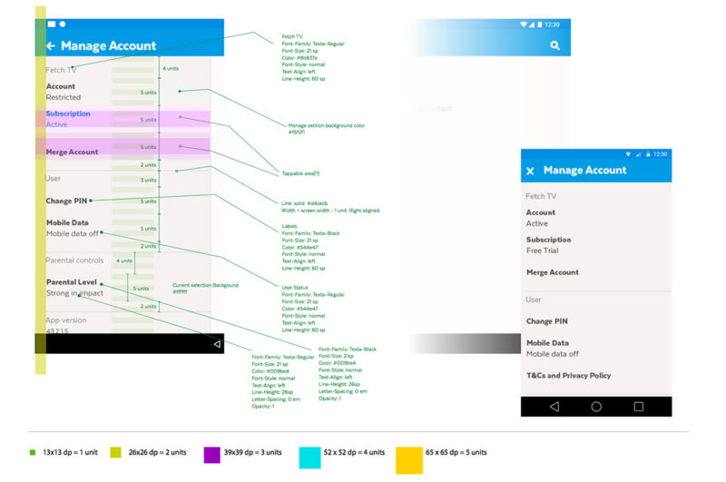 Android device design guidelines