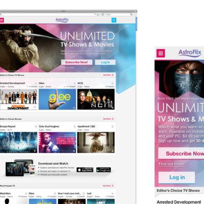 Entertainment Web, mobile app