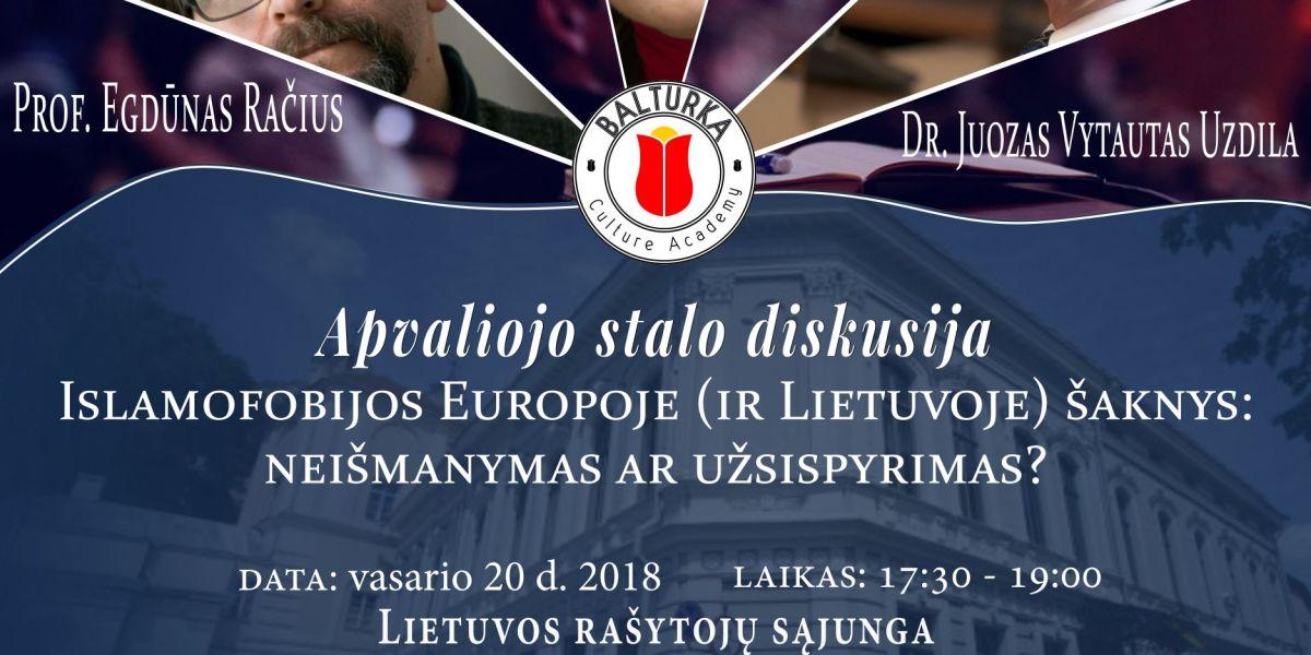 Apvaliojo stalo diskusija: islamofobijos šaknys
