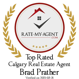 Top Rated Calgary Real Estate Agent Badge for Brad Prather verified on 2019-07-11 by Rate-My-Agent.com