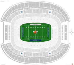 Dallas Cowboys Seating Guide  AT&T Stadium (Cowboys