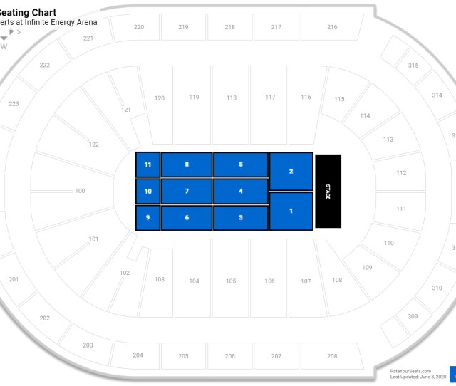 Infinite Energy Arena Floor Seating Chart
