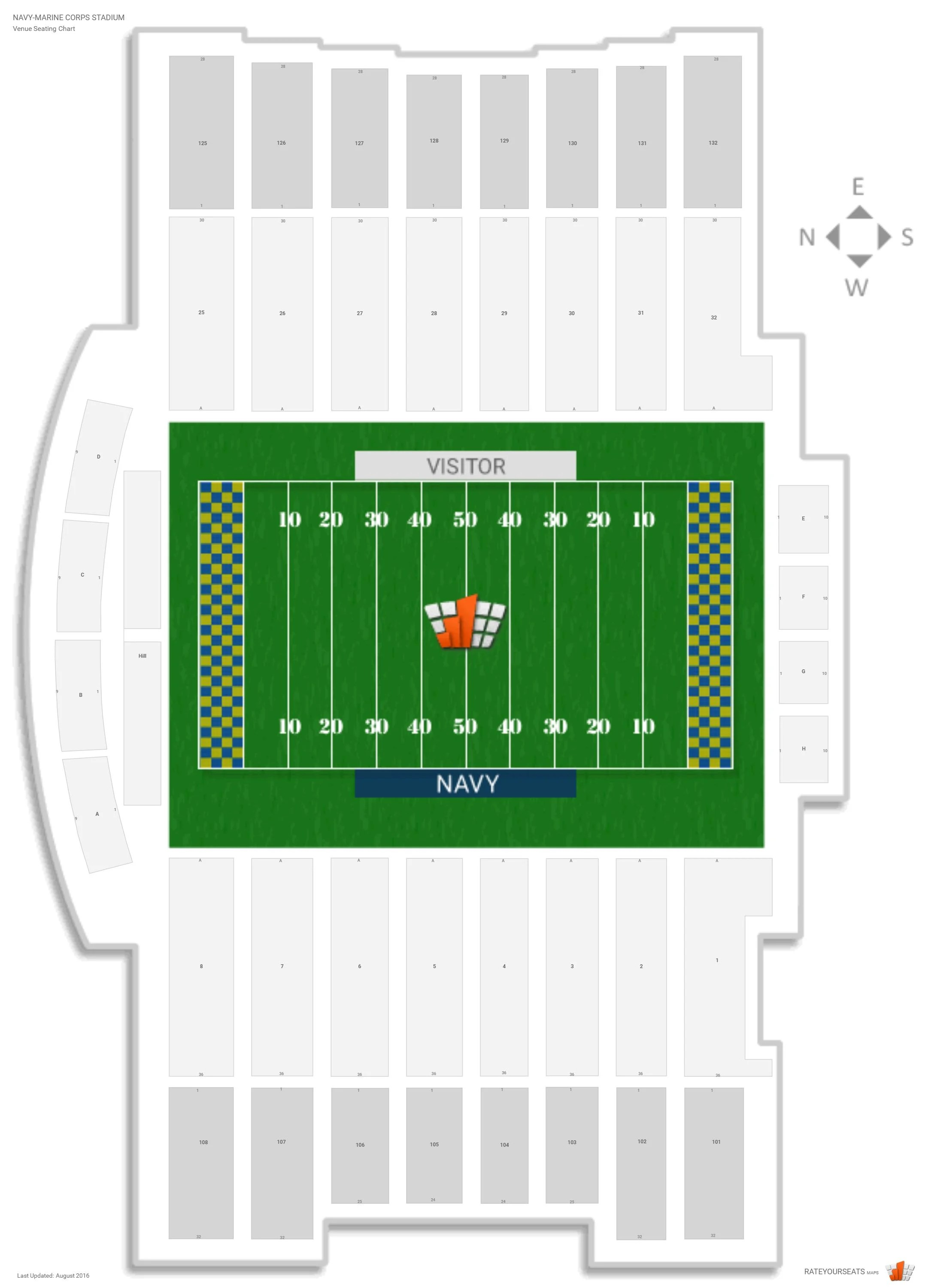 Navy Marine Corps Stadium Navy Seating Guide