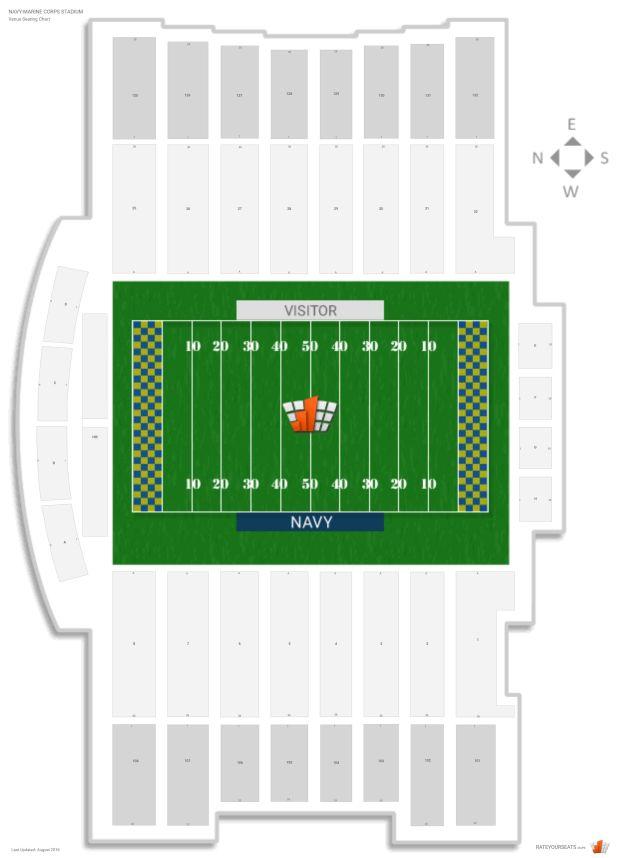Navy Marine Corps Stadium Seating Chart Brokeasshome Com