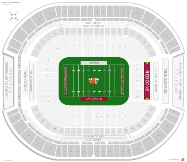 Fiesta Bowl Tickets >> U Of Phoenix Stadium Seating Chart | Brokeasshome.com